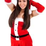 Isolated Christmas Girl — Stock Photo #15636707