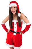 Geïsoleerde kerstmis meisje — Stockfoto