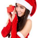Isolated Christmas Girl — Stock Photo #15706935