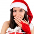 Isolated Christmas Girl — Stock Photo