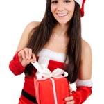 Isolated Christmas Girl — Stock Photo #15706857