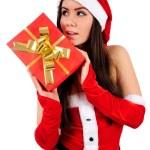 Isolated Christmas Girl — Stock Photo #15706863