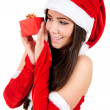 Isolated Christmas Girl — Stock Photo #15706935