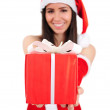 Isolated Christmas Girl — Stock Photo #15706939