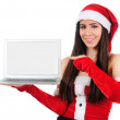 Foto Stock: Isolated Christmas Girl