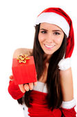 Aislado chica de navidad — Foto de Stock
