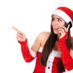 Isolated Christmas Girl — Stock Photo #15738289