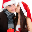 Stock Photo: Isolated Christmas Couple