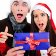 Isolated Christmas Couple — Stock Photo