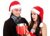 孤立したクリスマスのカップル — ストック写真