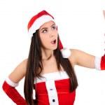 Isolated Christmas Girl — Stock Photo #16058991