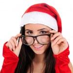 Isolated Christmas Girl — Stock Photo #16059073