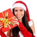 Isolated Christmas Girl — Stock Photo