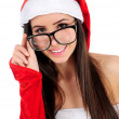 Isolated Christmas Girl - Stock Photo