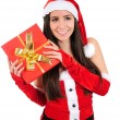 Isolated Christmas Girl — Stock Photo #16059135