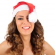 Isolated young christmas woman — Stock Photo #16279971