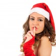 Isolated young christmas woman — Stock Photo #16280067