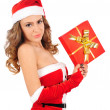 Isolated young christmas woman — Stock Photo #16280115