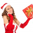 Isolated young christmas woman — Stock Photo #16280157