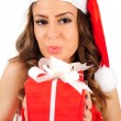 Isolated young christmas woman — Stock Photo #16280171