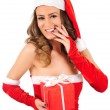 Isolated young christmas woman — Stock Photo #16280189