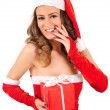 Stock Photo: Isolated young christmas woman
