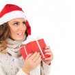 Isolated young christmas girl — Stock Photo