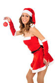 Isolated young christmas woman — Stock Photo