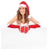 孤立した若いクリスマス女性 — ストック写真