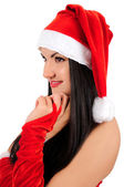 Young brunette christmas girl — Stock Photo