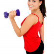 Isolated fitness woman — Stock Photo