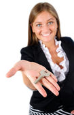 Isolated business woman — Stock Photo