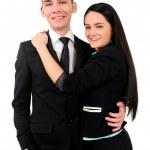 Isolated business couple — Stock Photo