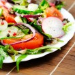 Plate with salad — Stock Photo #22101453
