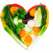 Foto de Stock  : Heart of vegetables