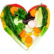 Heart of vegetables — Stock Photo
