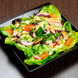 Plate with salad — Stock Photo #22102203
