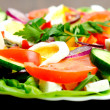 Plate with salad — Stock Photo #22102389