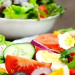 Plate with salad — Stock Photo #22102429