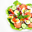 Plate with salad — Stock Photo #22102449
