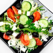 Plate with salad — Stock Photo #22102541