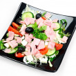 Plate with salad — Stockfoto