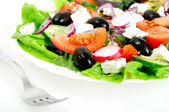 Plate with salad — Stock Photo