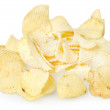 Isolated chips of potato — Stock Photo #30061581