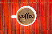 Słowo kawy — Zdjęcie stockowe