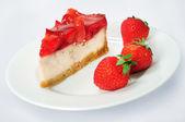 Cake with strawberry — Stock Photo