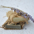 Soap with Lavender flowers  — Stock Photo