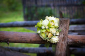 White roses wedding bouquet — Stock Photo