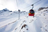 Cable car going to Kitzsteinhorn peak — Stock Photo