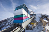 Funicular going to Kitzsteinhorn peak — Stock Photo